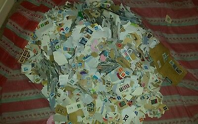 7KG Unsorted Job Lot of Mixed Kiloware Stamps on Paper UK And Around The World