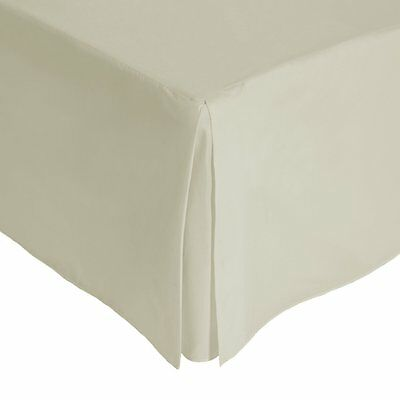 Julian Charles King Size Percale 180 Thread Count Base Valance, Linen
