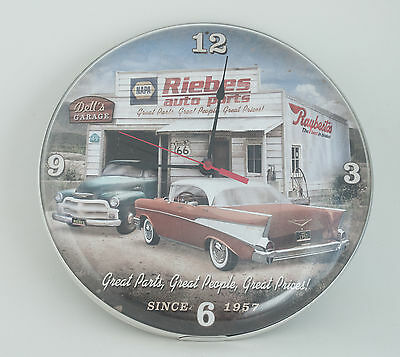 """Riebes Auto Parts Advertising Wall Clock 14""""  (A1L Area)"""