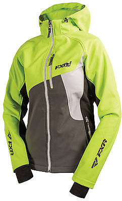 FXR Womens Electric Lime/Charcoal Snowmobile Venture Softshell Jacket