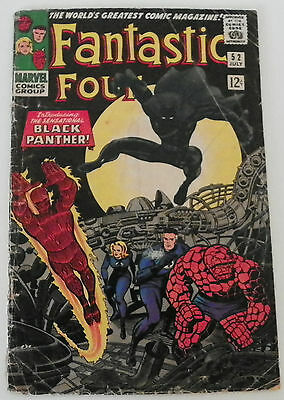 Fantastic Four # 52 (1962) 1st. appearance Black Panther Jack Kirby art