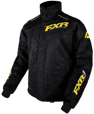 FXR Mens Black/Hi-Vis Snowmobile Turbo Jacket Snocross