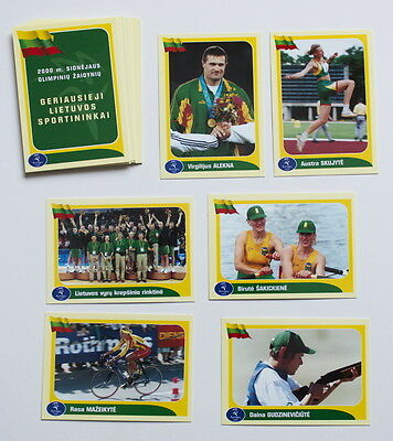 SYDNEY 2000 Olympic Lithuania Basketball Boxing Shooting Athletics 17 cards lot