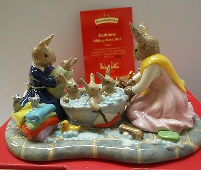 Royal Doulton Bunnykins Figurine -Bathtime Tableau - Db483 Bnib