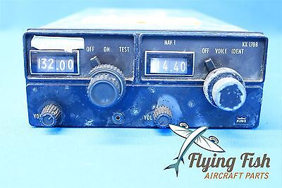 King KX-170B NAV COMM System & Rack with connectors P/N 069-1020-00 (19111)