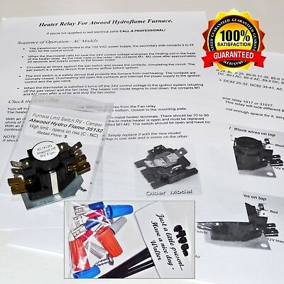 Atwood Hydro Flame Furnace Time Delay 31017 RV Camper Fan + Instructions