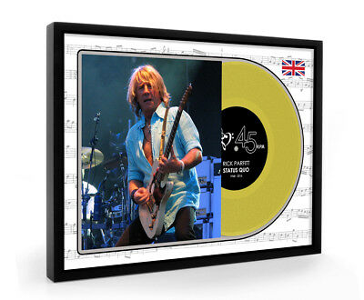 Rick Parfitt Status Quo Gold Disc Display Premium Framed Edition In Memory