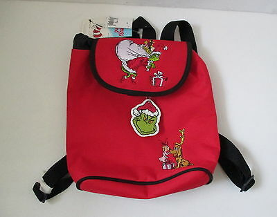How the Grinch Stole Christmas Mini Backpack Christmas Purse Bag New with Tags