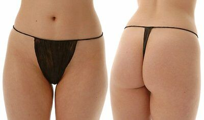 Au Seller 100 Black Disposable G Strings Tanning Waxing