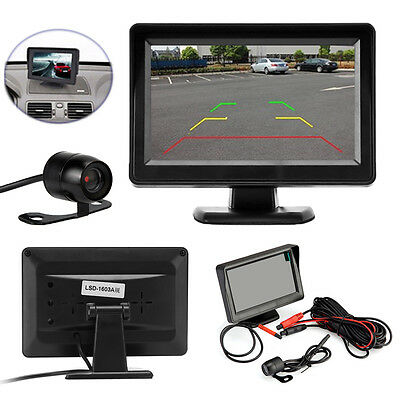 "4.3"" TFT LCD Car Rear View Monitor + Backup Reverse Parking Camera Night Vision"