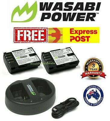 Wasabi Power 2000mAh Battery (2-Pack) and Dual Charger for Panasonic DMW-BLF19