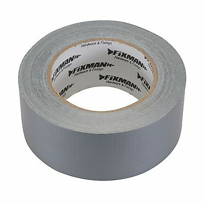 Extra robust Fabric Adhesive Tape 50 mm x 50 m, silber Packaging tape 1m