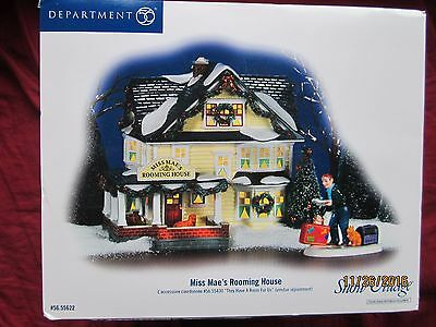 Department 56 Snow Village Miss Mae's Rooming House 2007 New, Retired, Lghted