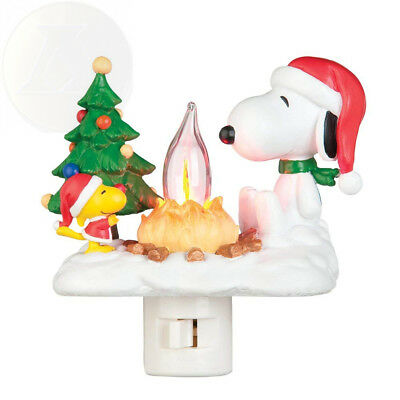 Peanuts 4-1/4-Inch Snoopy And Woodstock At Campfire Nightlight New Ships Free