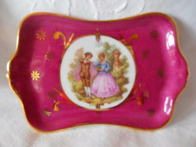 Pin Dish Or Miniature Tea Serving Tray Suitable For Dolls Houses, Limoges France