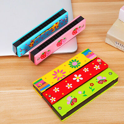 1pcs Baby Kids Toys Educational Swan Harmonica 16 Holes Musical Instruments Toy