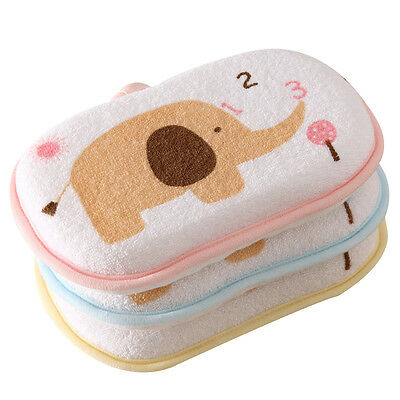 New Newborn Baby Bath Towel Brush Cute Elephant Shower Sponge 2016
