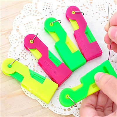 1 Pc Random Color Easy Sewing Needle Device Threader Thread Guide Tool Unisex