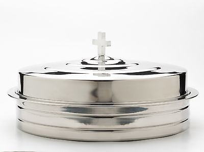 Communion Tray and Cover Set, 40 holes Silvertone Stainless Steel. FREE DELIVERY
