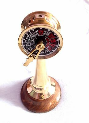 """Solid Brass Ship Engine Room Telegraph Vintage Collectible Handmade Telegraph 6"""""""