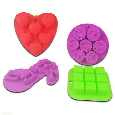 1pc Heart Smiling Square Shaped Silicone Ice Cube Chocolate Tray Baking Mould