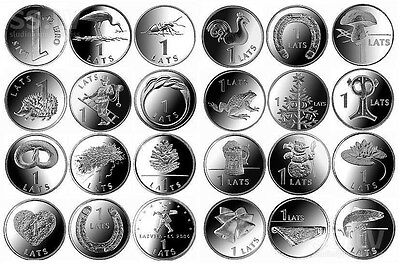 1 lats Latvia coin commemorative pre euro different years and designs christmas