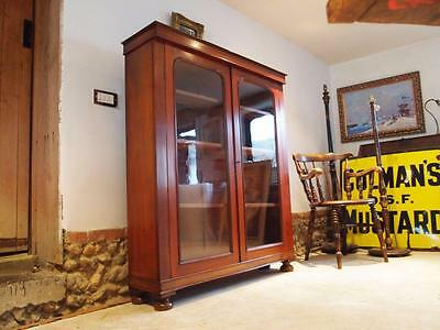 Bookcase display Victorian Mahogany c1870
