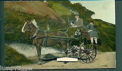 NOVELTY,PULL-OUT,IRISH JAUNTING CART,WITH BELFAST VIEWS,vintage postcard
