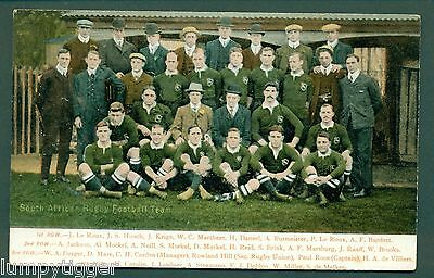 RUGBY FOOTBALL,SOUTH AFRICAN TEAM ,vintage postcard
