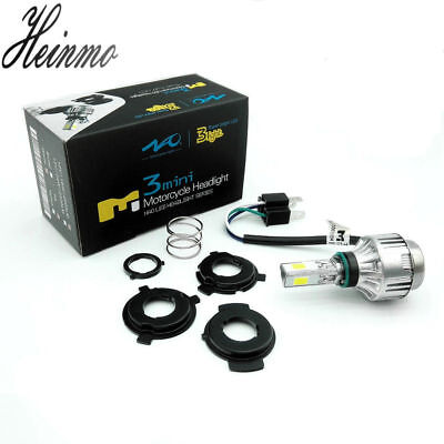 4000LM 34W H6 H4 Hi/Lo LED Motorcycle Headlight Bulb moto Fog Lamp BA20D 6500K