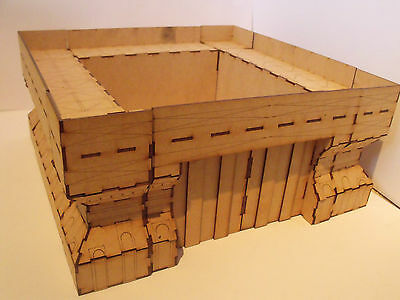 Military building fortress  - Wood scenery terrain for warhammer 40k wargames