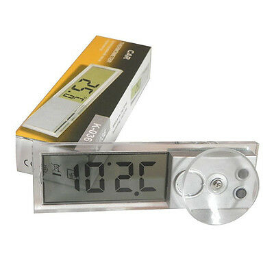2x(Osculum Type LCD Vehicle-mounted Digital Thermometer Celsius Fahrenhei S8)