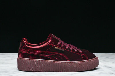 Rihanna Fenty x Puma CREEPERS Velvet Burgundy Royal Purple Sz 5.5/10 364466 02