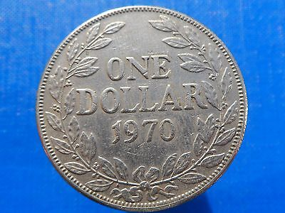 1 dollar 1970 Liberia Coin Low Shipping! Combine FREE!