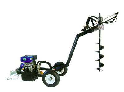 EARTH AUGER Post Hole Digger 9HP Petrol 4 Stroke Stand Alone with 5 Augers