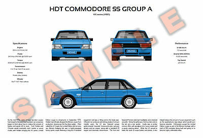Holden HDT VK Commodore SS Group A and Calais Director customisable posters