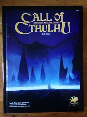 Call of Cthulhu 6th Sixth Edition Hardcover - Core Rulebook Chaosium Lovecraft