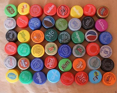 Chile Lot 48 Plastic Bottle Cap Coca Cola And other (#014)