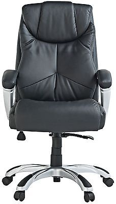 X-Rocker Leather Effect Executive High Back Height Adjustable Office Chair SA12.