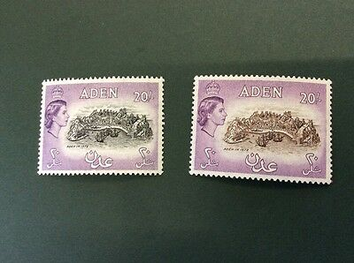 Aden Lightly Mounted Mint £1.00  SG 71/72 Catalogue Value £93.00 In 2016