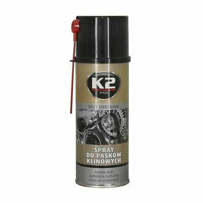 K2 Protect Anti Squeal Slip Spray Drive Car Belts Dressing Stop Slipping Drying
