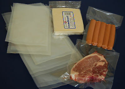 Vacuum Seal Sealer Pouch Pouches Pack Food Bags Clear Butchers Meat Bag 65micron