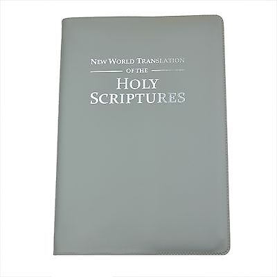New Large 2013 Bible - NWT - GREY Vinyl Cover - Jehovah's Witnesses - VC0991