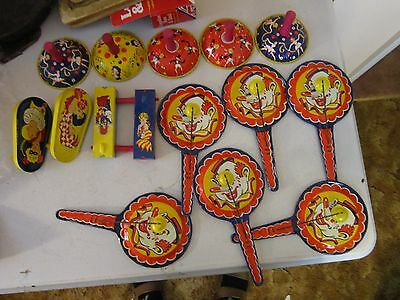 Original Kirchhof Noise Makers, Life Of The Party Clown Paddles, Bells Crankers
