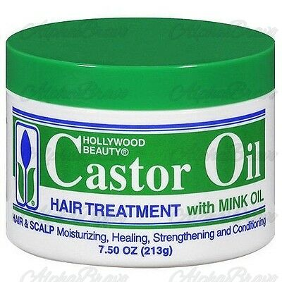 New Hollywood Beauty Castor Oil Hair Treatment With Mink Oil 7.5 Oz New UKSeller