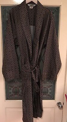 Vintage Mod Paisley Tootal Style Dressing Gown Smoking Jacket Large 1970s