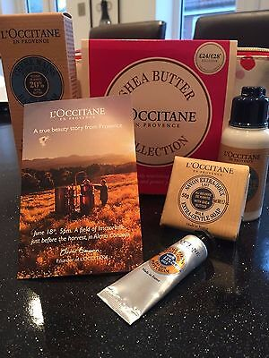 L'Occitane Make Up Bag Shea Butter Collection Great For Travel 4 piece set