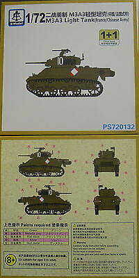 M3A3 Light Tank (France,China), 1/72, S-Model ,Doppelpack , Plastik, NEU,