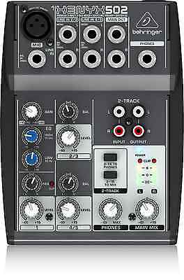 BEHRINGER XENYX 502 Premium 5-Input 2-Bus Mixer with XENYX Mic Preamp and Britis