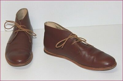 OPENING CEREMONY Boots Homme Tout Cuir Marron T 43 TBE